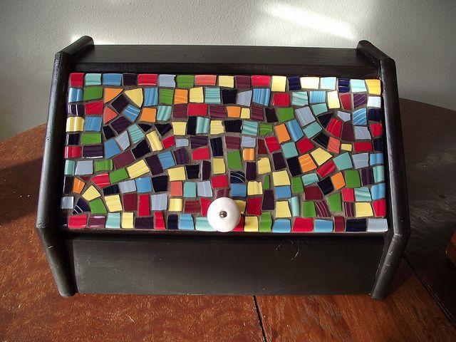 Fiestaware Mosaic Bread Box