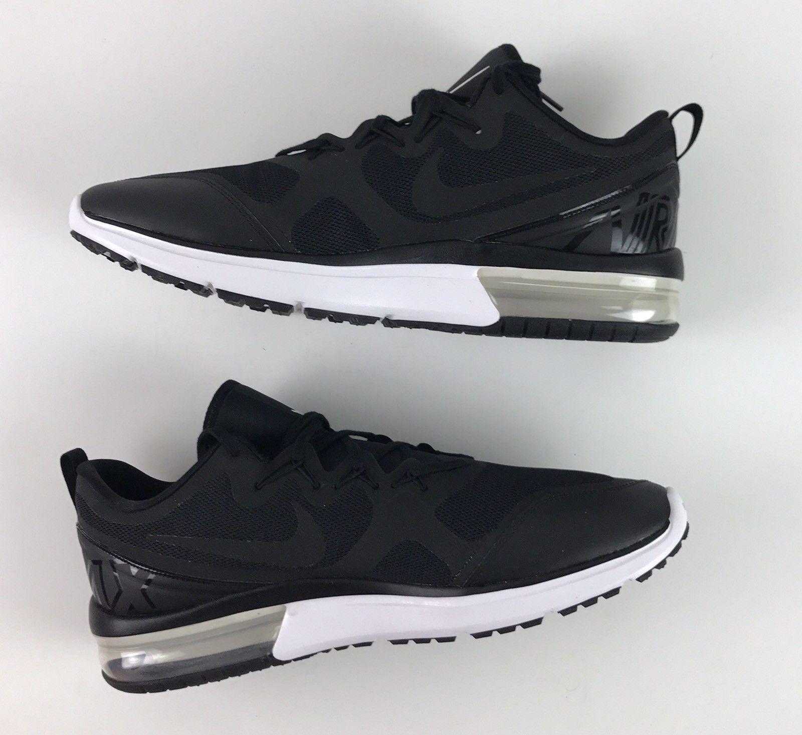 49cbec312fb1 Nike Air Max Fury AA5739-001 Black White Men s Running Shoes NEW! SZ ...