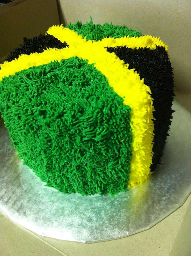 Groovy Jamaican Flag Cake Cakepins Com With Images Jamaican Party Funny Birthday Cards Online Overcheapnameinfo