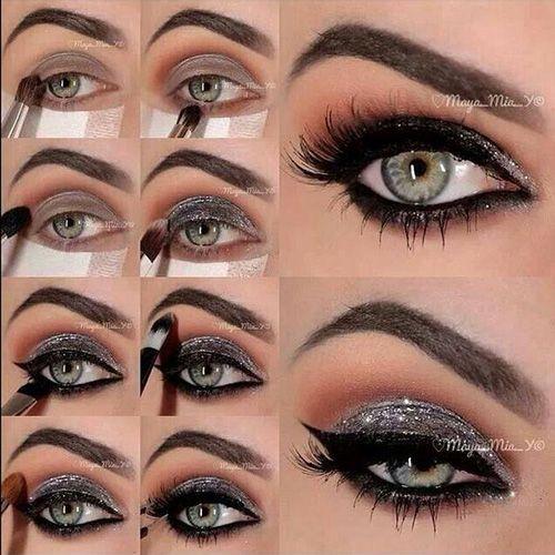12 Easy Prom Makeup Ideas And Eye Shadow For Green Eyes Gurl Com Smoky Eye Makeup Silver Eye Makeup Silver Eye Makeup Tutorial