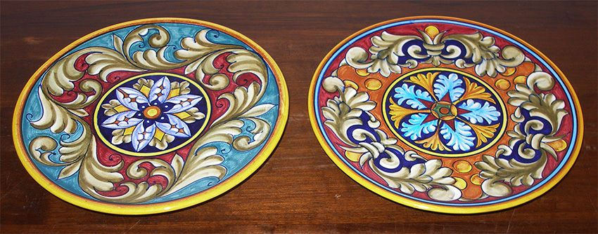 DERUTA ITALIAN POTTERY set OF 2 20 CM 8\  PATTERN PLATES  sc 1 st  Pinterest & DERUTA ITALIAN POTTERY set OF 2 20 CM 8\