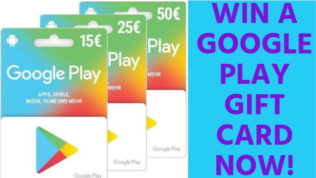 Google Play Gift Card Codes For Free How To Get