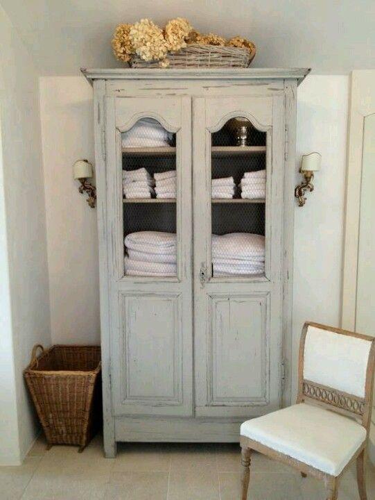 Furniture Gorgeous Armoire For Bathroom Towel Storage My Style Bathroom Pinterest