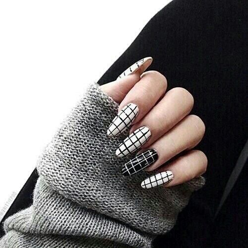 Aesthetic Alternative Art Black Clean Fake Fashion Feed Grunge Instagram Makeup Nail Nails Pale Squared Sweater Theme White
