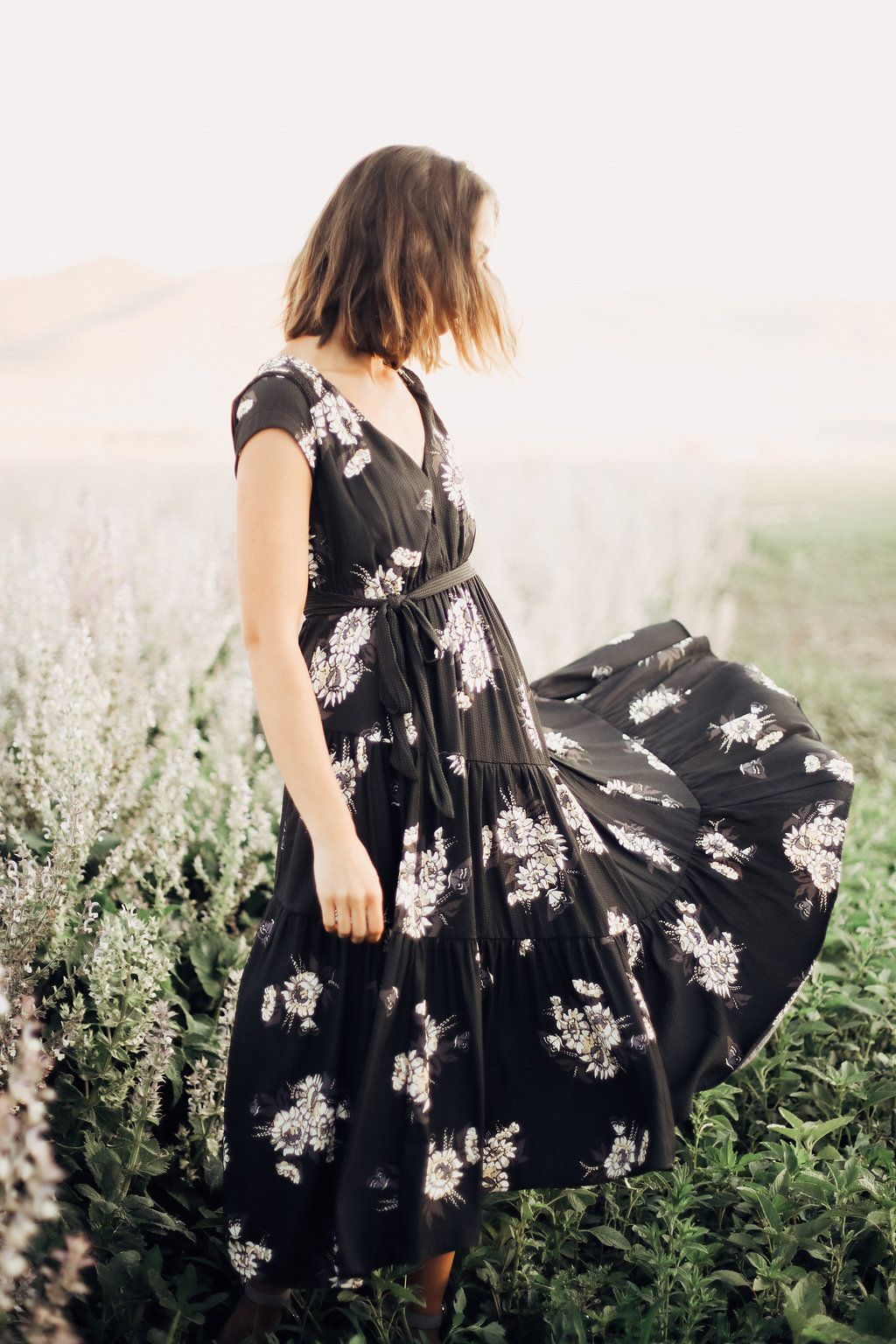 4567b79625 FREE PEOPLE  ALL I GOT PRINTED MAXI DRESS IN BLACK COMBO   DRESSESS    WOMENS CLOTHING