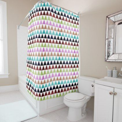 triangles shower curtain - modern gifts cyo gift ideas