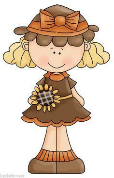 Clipart Of Adorable Little Girl Sunflower On Head - Google ...