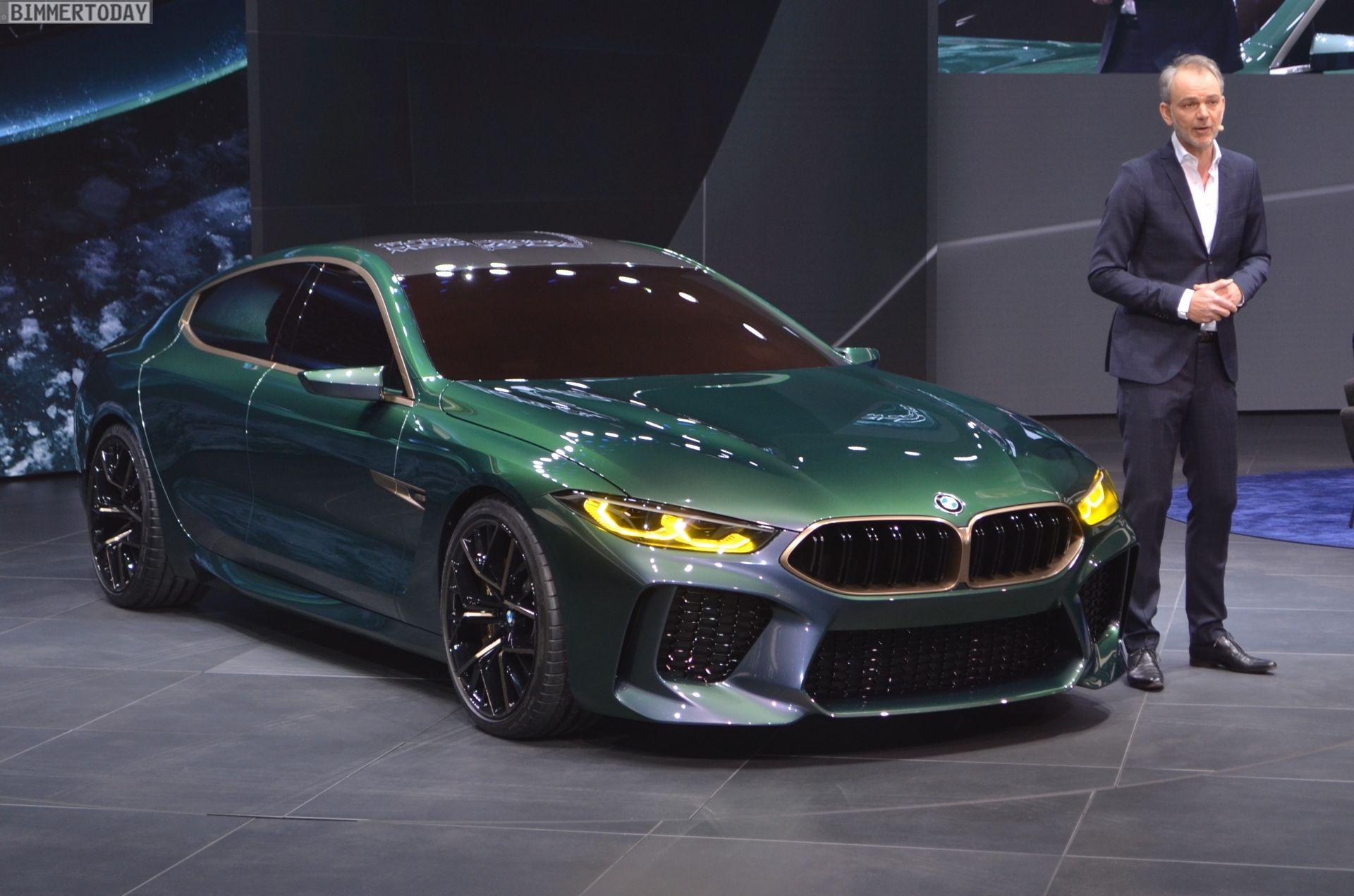 Bmw Concept M8 Gran Coupe Real Life Photos With Images Bmw