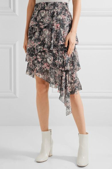 Floral Viscose Georgette Asymmetrical Wrap Dress Fall/winter Proenza Schouler EI9GeI