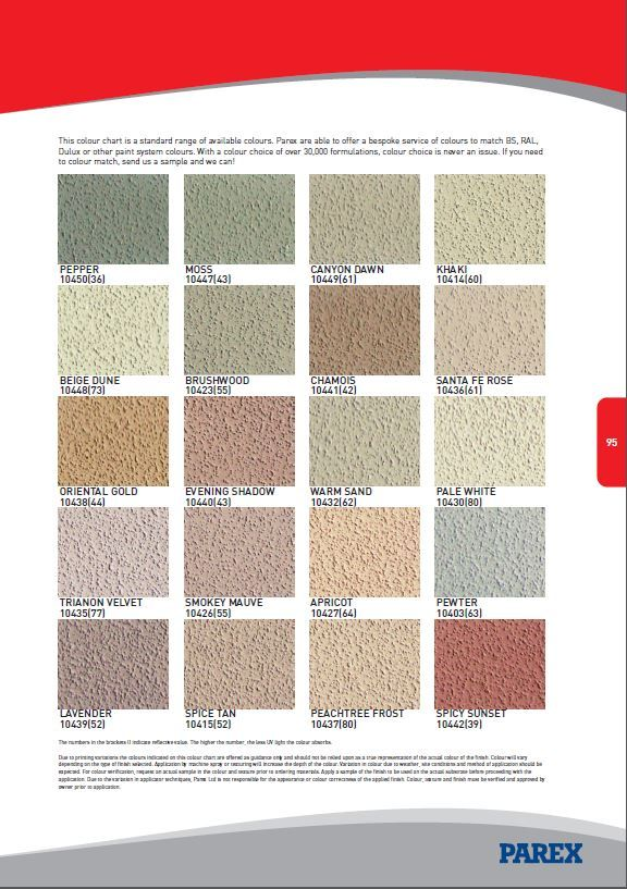 Parex Render Colours Research 284 In 2019 1930s