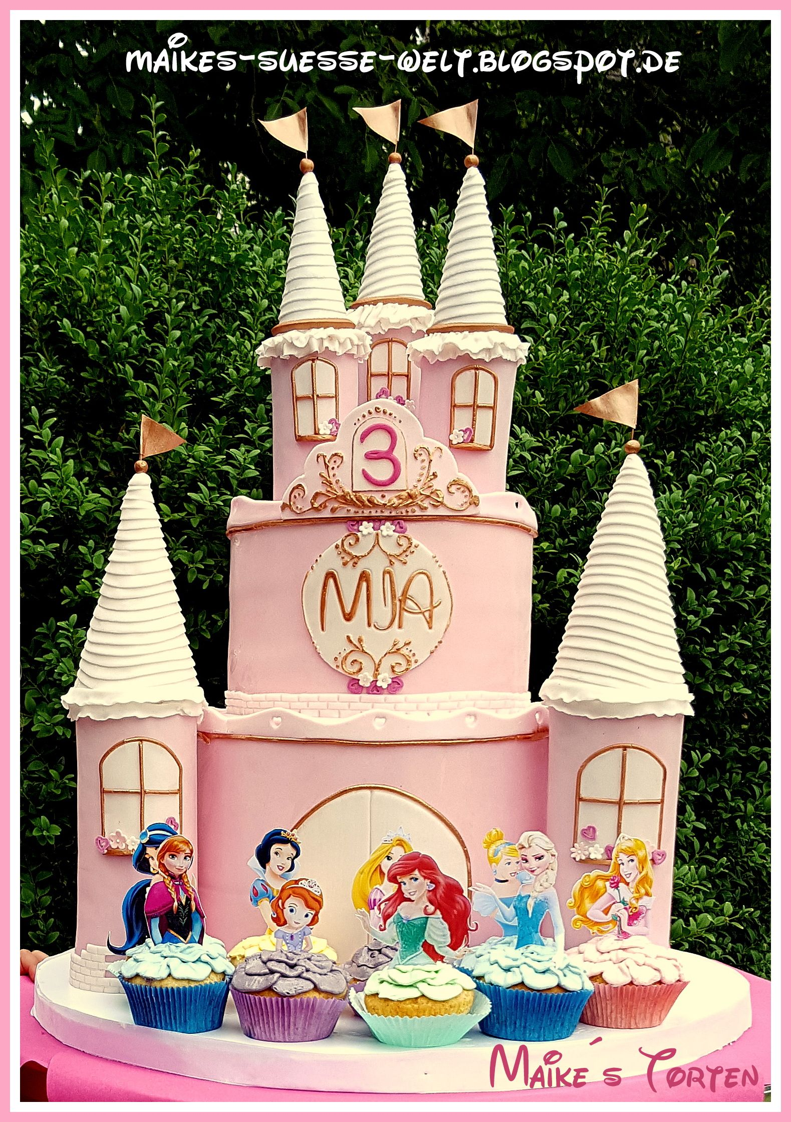 Cinderella Castle Cake Topper Etsy