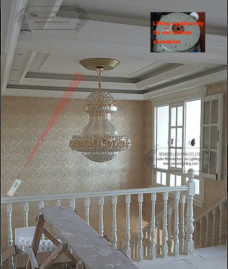 Ddj50 4m remote controlled lowering system chandelier scolling ddj50 4m remote controlled lowering system chandelier scolling system crystal light lift chandelier hoist mozeypictures Gallery