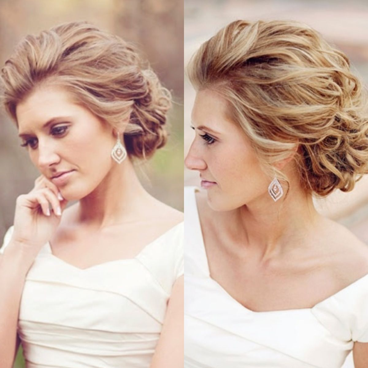 Wedding Hair Loose Up Style: Soft Updo - Beautiful! Grad Inspiration