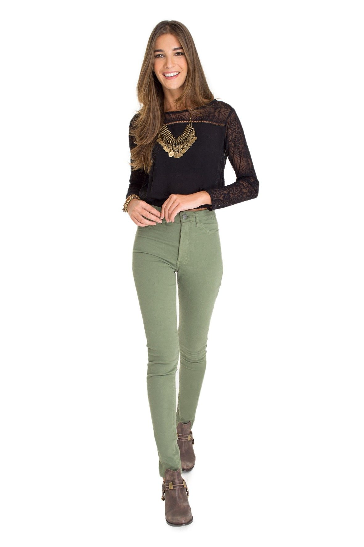 calça skinny color - Calças   Dress to