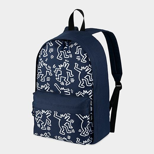 63fee7e8413b UNIQLO Keith Haring Grey Backpack | store.moma.org | Artist Products ...