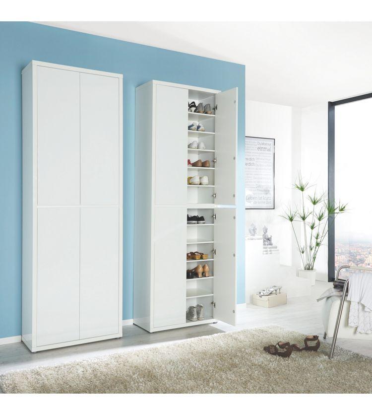 Schuhschrank Weiß Weiß Modern Holzwerkstoff 7021134cm