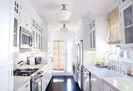Image result for galley kitchen lighting #newkitchendesignsimages #whitegalleykitchens