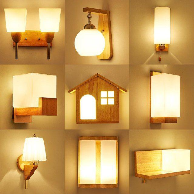 MLZAOSN Nordic Kreative Holz Lampe Minimalistischen
