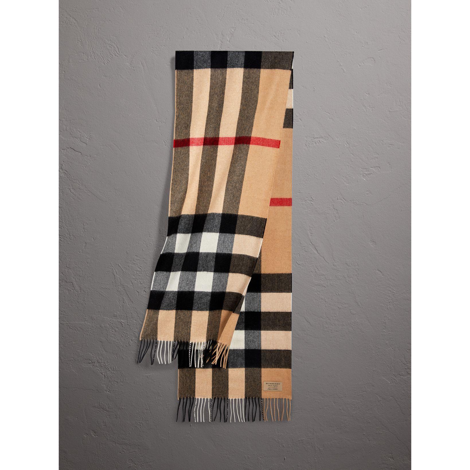 Классический шарф из кашемира в клетку (Песочный)   Burberry   Pinterest 18533e3a0bb