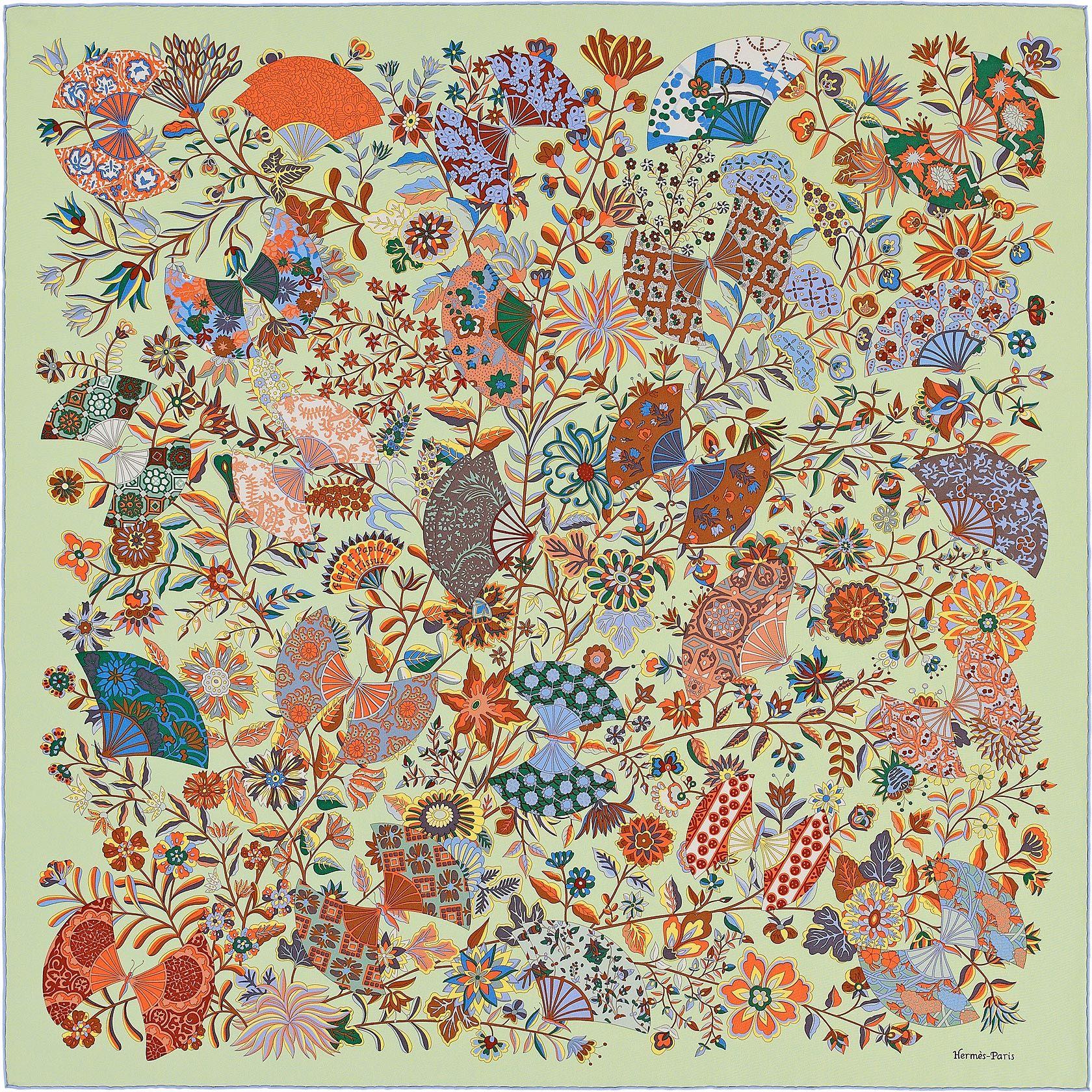 Scarf 90 Hermès   Fleurs et Papillons de Tissus   Sál   Pinterest ... 6dd4f891fd2