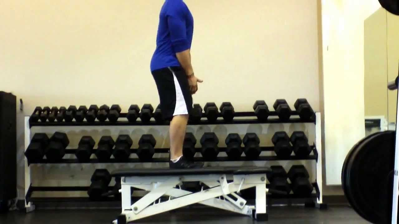 Single Leg Squat Standing On Box