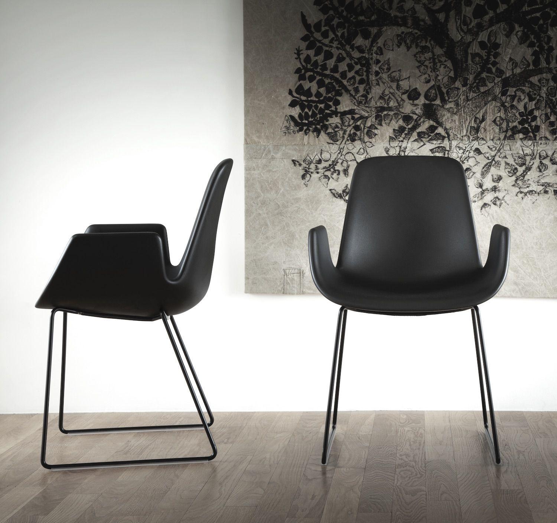 Tonon Step 904 Mit Armlehnen Und In Feinstem Leder Stuhl Design Mobeldesign Beistellstuhl