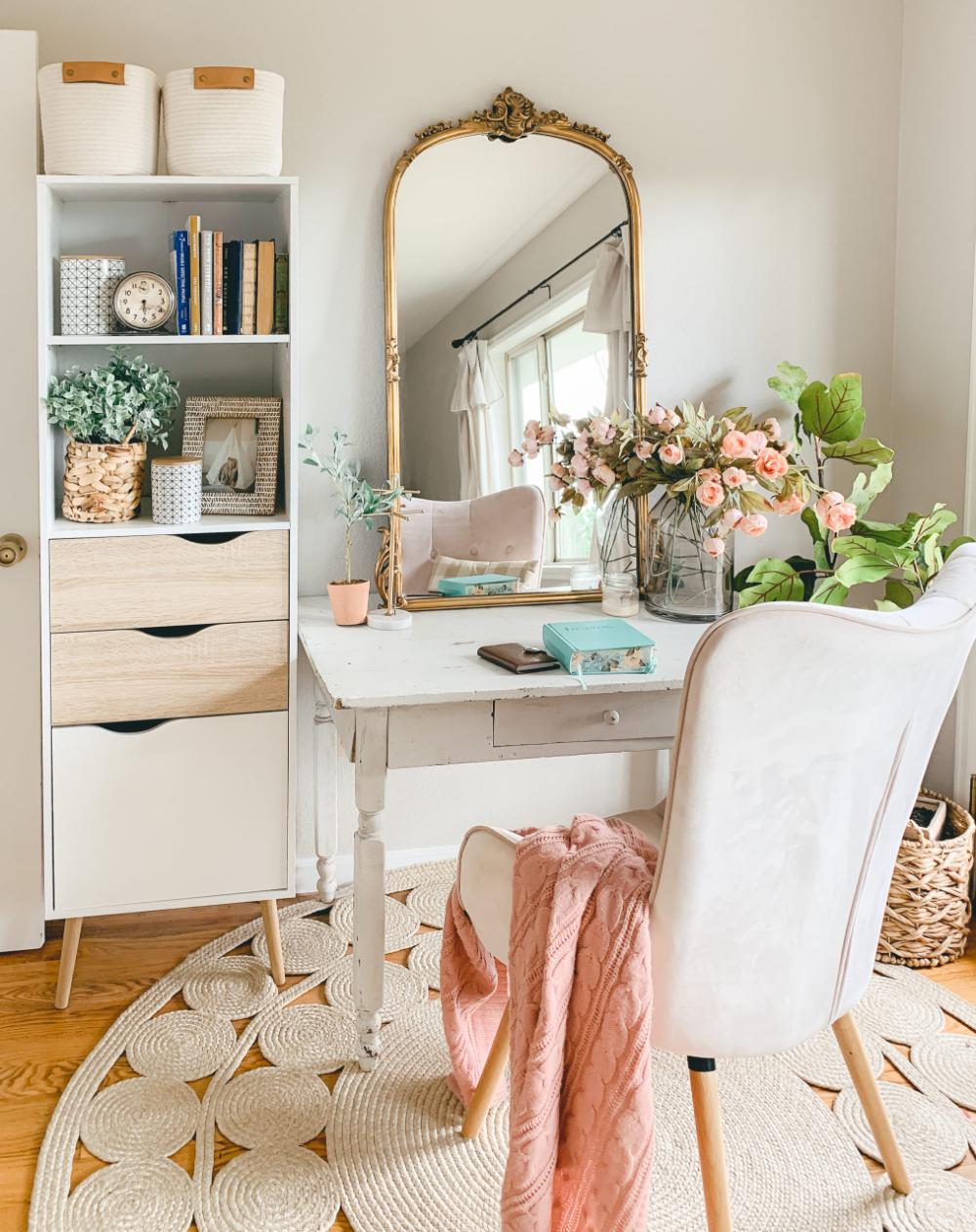 Favorite Space: Boho Style Vanity Desk