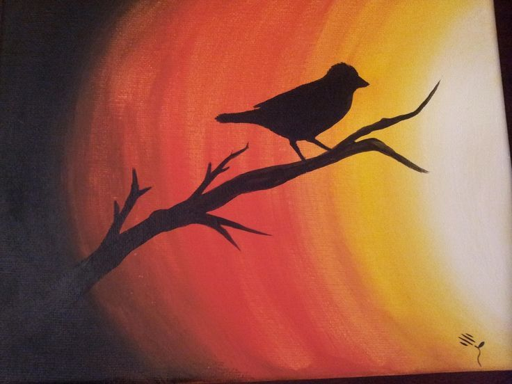 easy thing to paint with acrylics spring - Google Search Ms