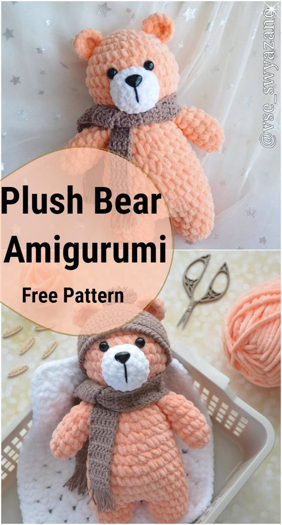 Amigurumi tedy bear and dog crochet plush free pattern – Free Amigurumi Patterns #crochetbearpatterns