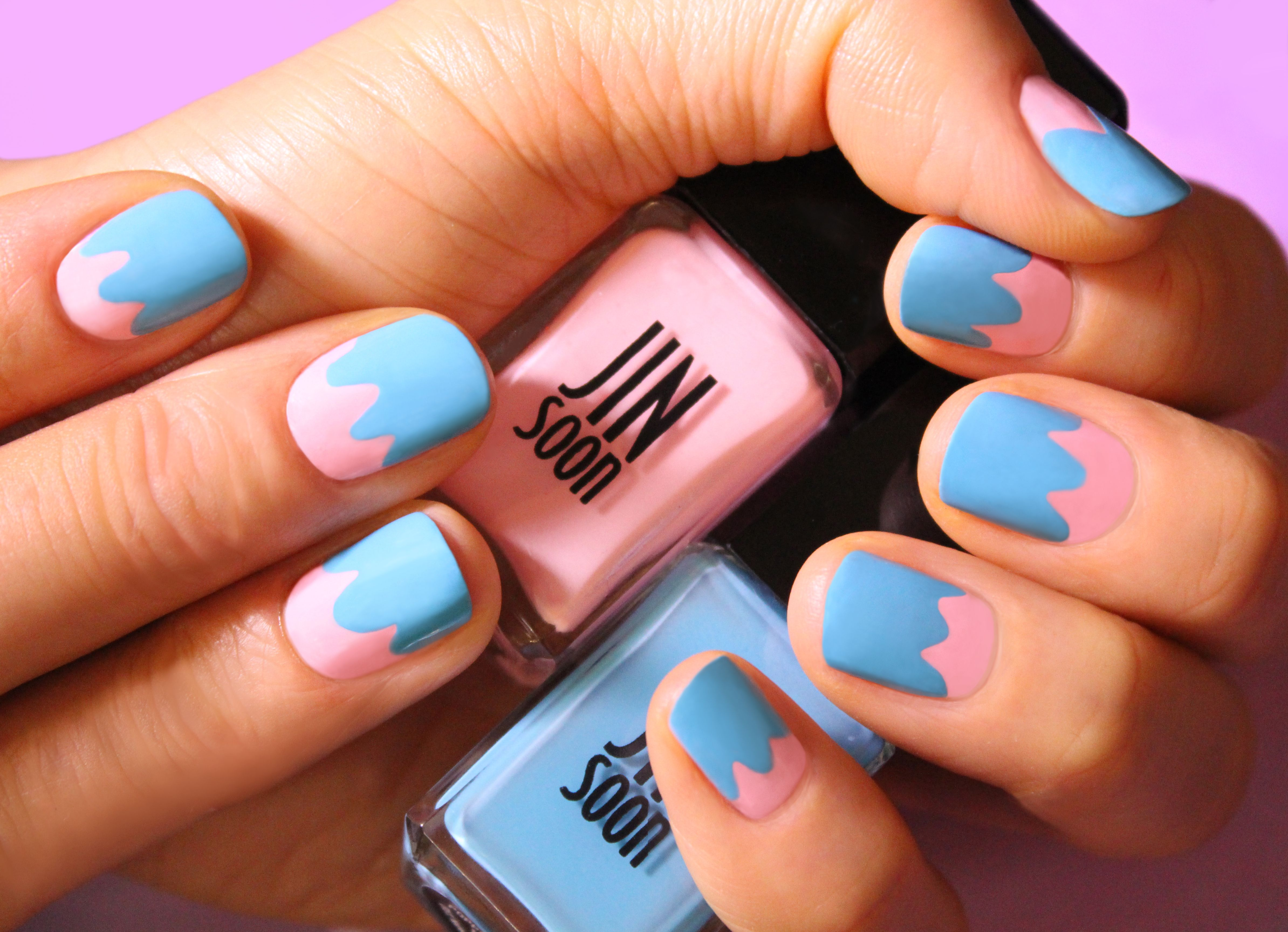 easter inspired nails from jinsoon featuring dolly pink and poppy