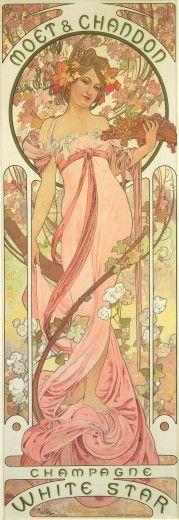 "Alphonse Mucha Poster for ""Moët & Chandon Champagne"