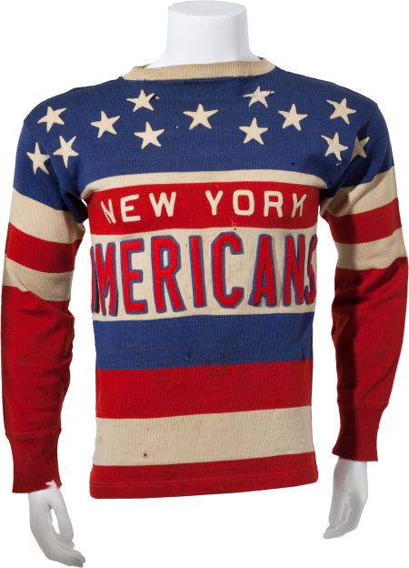Circa 1935-36 Tommy Anderson Game Worn New York Americans Jersey ... 2444e2bdb