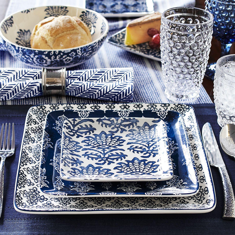 Gudari Dinnerware | Pier 1 Imports & Gudari Dinnerware | Pier 1 Imports | Blue and White | Pinterest ...
