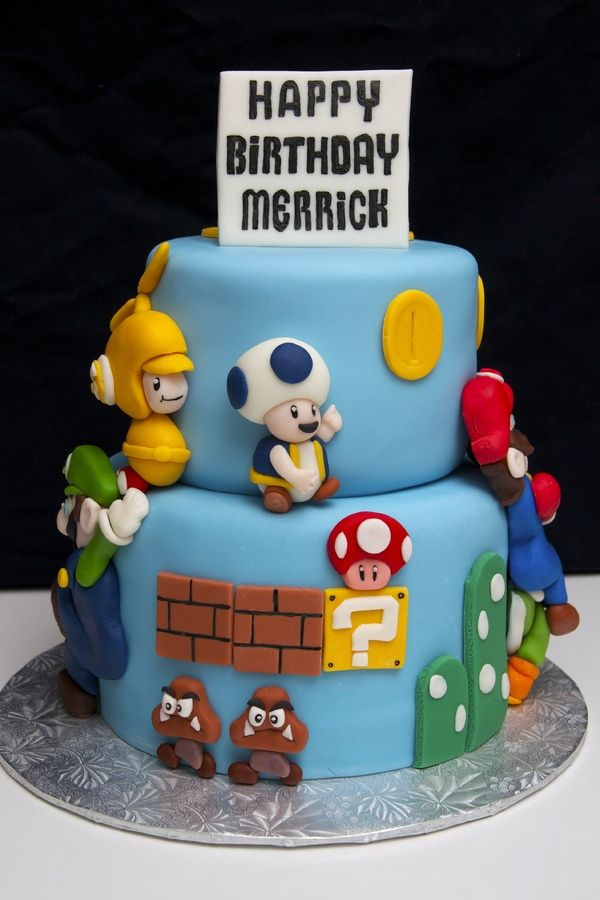 Handmade Fondant Super Mario Cake birthday ideas Pinterest