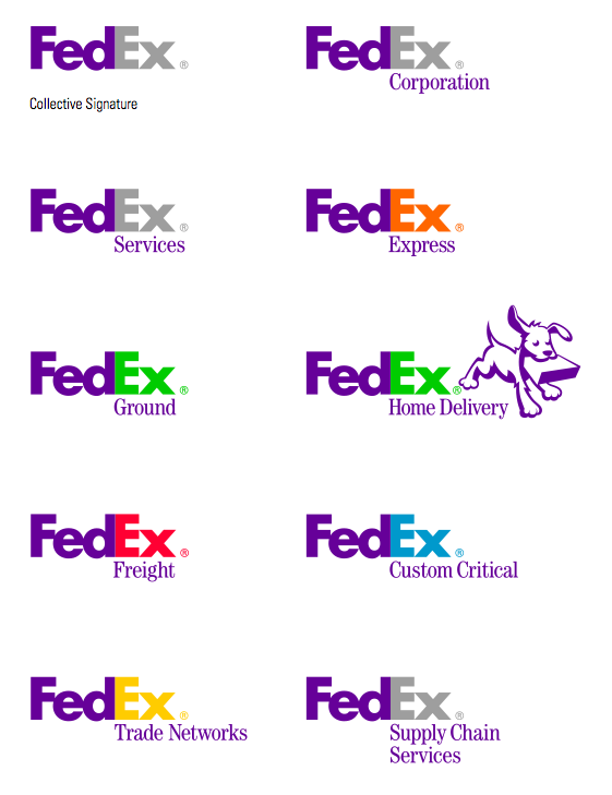 Fedex Variations Logo Pinterest Logos Brand Architecture And