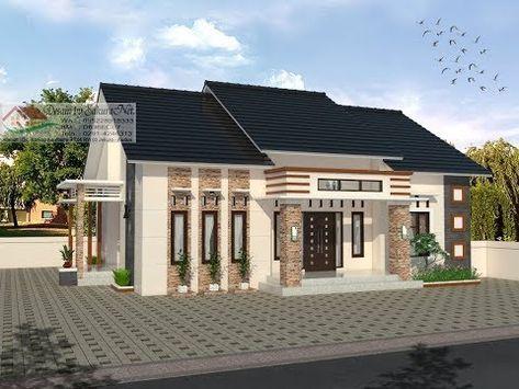 modern house (13x10) 4 k. tidur. desain rumah minimalis