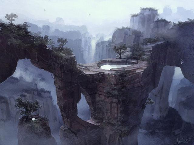 35 Fantastic Illustrations Of Fantasy Landscapes – Bashooka
