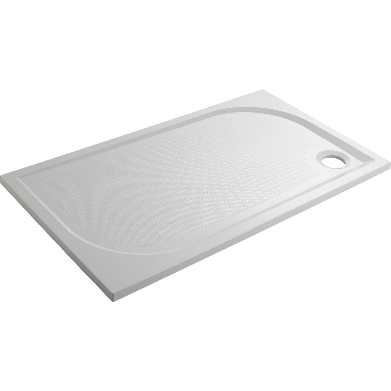 Receveur de douche à poser Klara SENSEA, résine, 70x120 cm