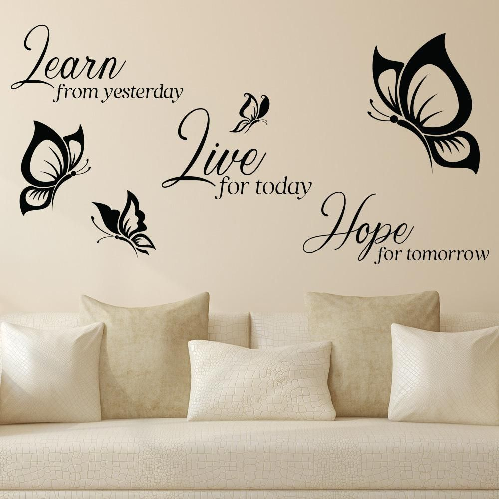 Sweet Deams Motto Quote Butterflies Childrens Bedroom Decal Wall Sticker Picture