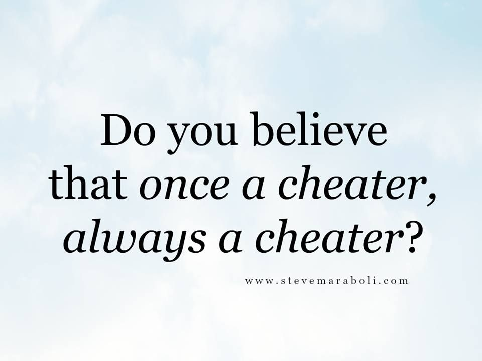 how do you know when someone is cheating