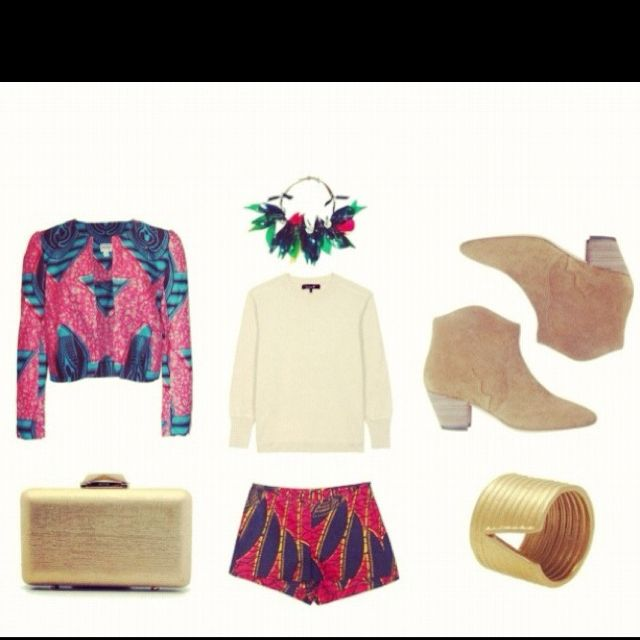 My african wax summer inspiration on polyvore