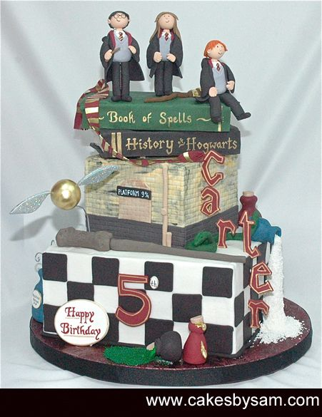 Harry Potter Cake Topper 3D Edible Hermione Ron Marauder/'s Map Age Name  Magic