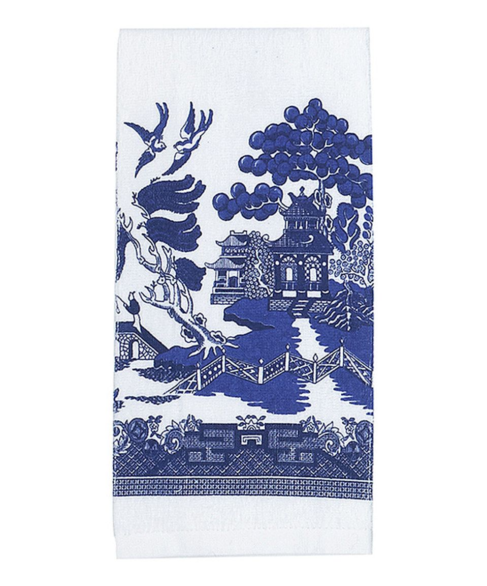 Blue Willow Kitchen Towel - Set of Two by Kay Dee Designs ...