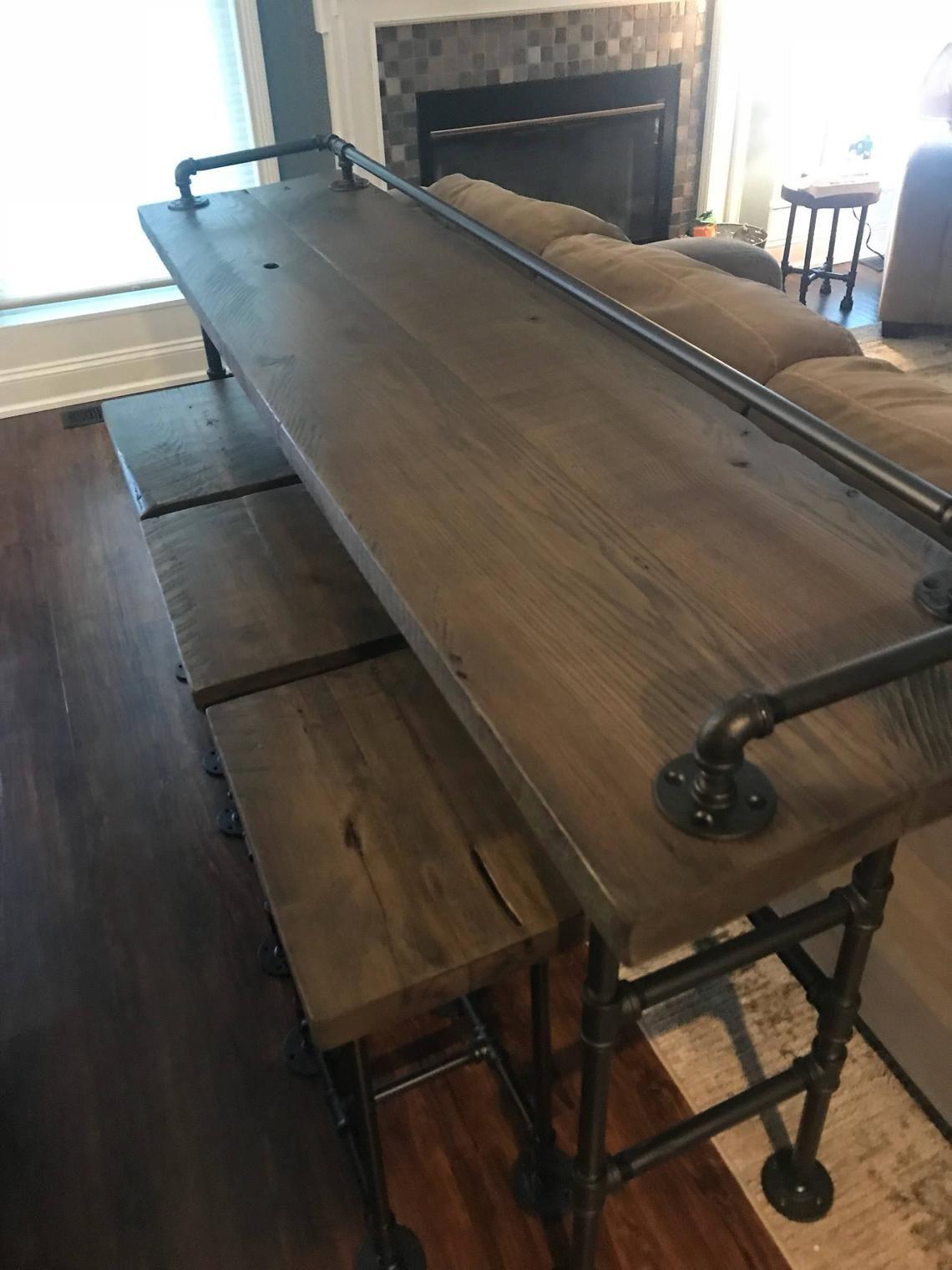 Reclaimed Barn Wood Sofa Bar Table - 6ft - Restaurant ...