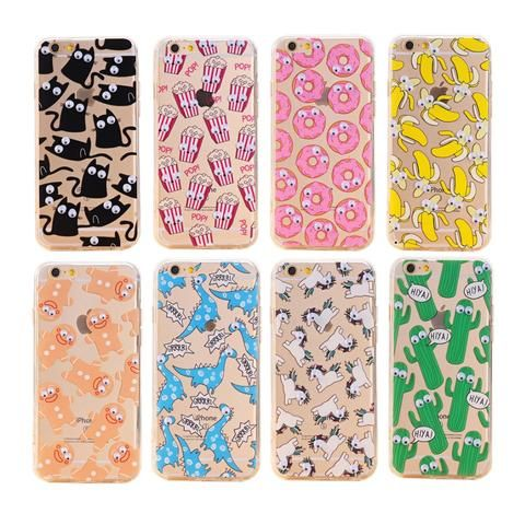 83baad97139 2017 3D Cartoon Animal Fruits Pattern Fundas Cover Case for iPhone 7 6 6S  Plus 5 5S 5SE 4 4S TPU Silicon Soft Sleeve Shell