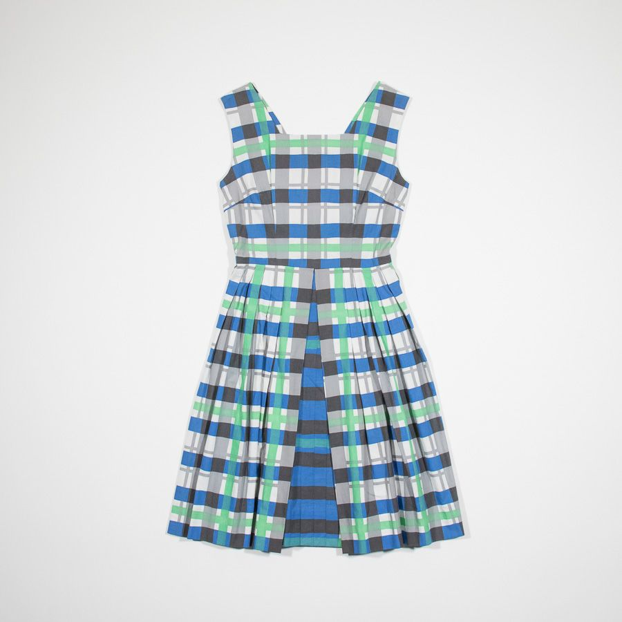 ✦ CLICK TO BUY ✦ 50s tartan cotton dress - Vestito anni '50 - Millesimè Vintage clothing & accessories