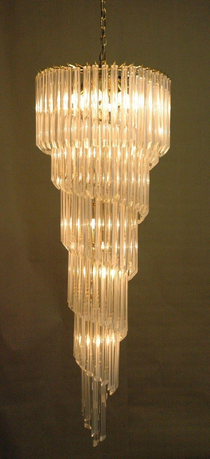 Murano glass spiral chandeliers Novaresi , Vistosi Mazzega venini ...