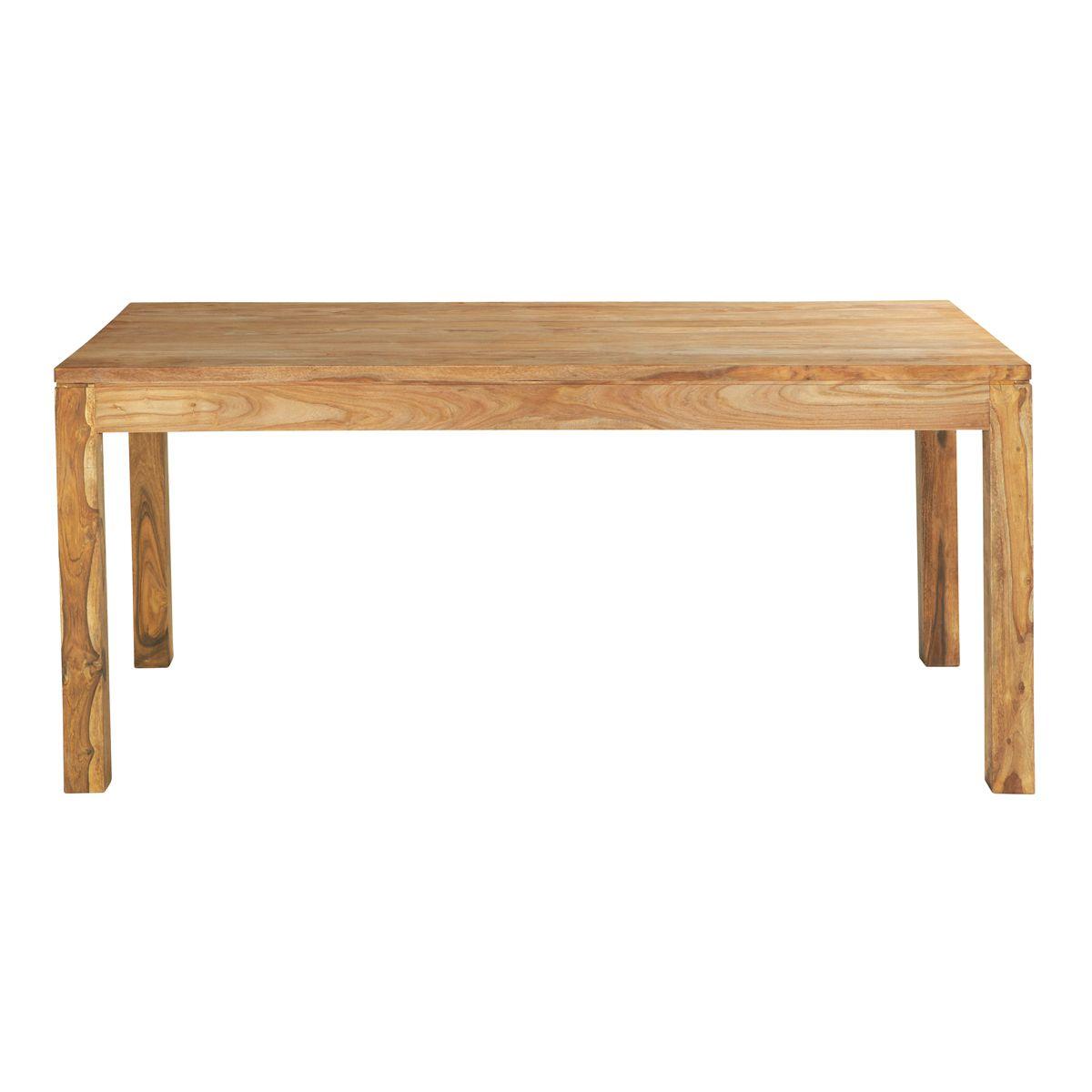 Table de salle à manger en bois de sheesham massif L 180 cm Stockholm