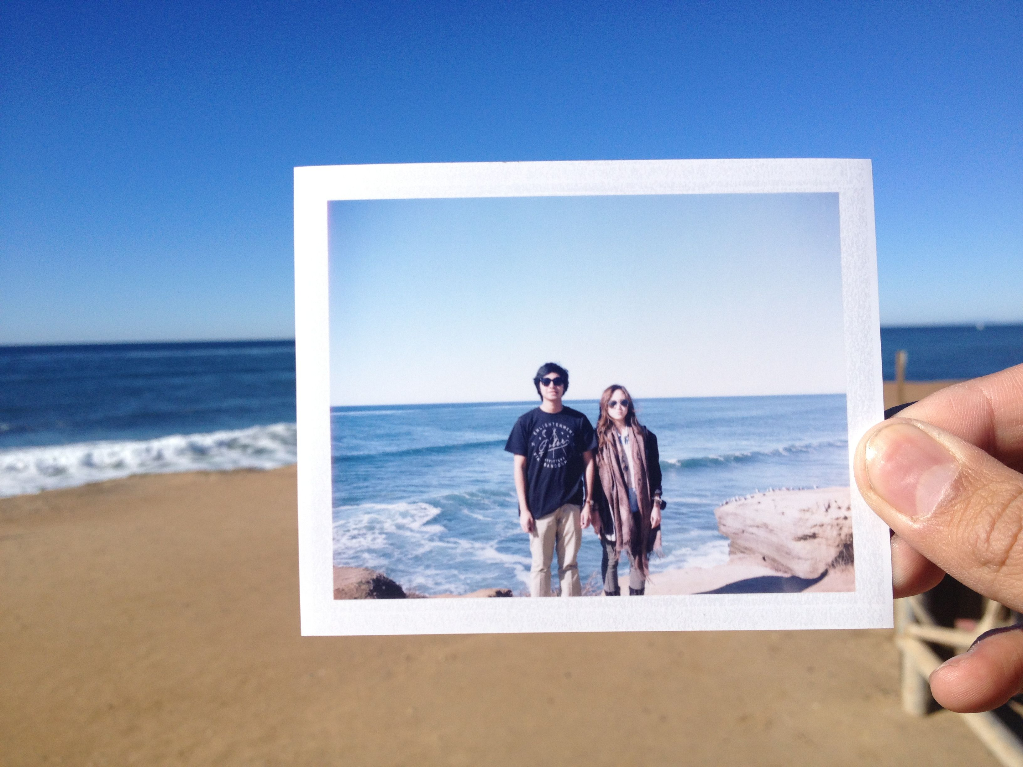 Sunset Cliffs Natural Park, San Diego. Taken with Polaroid