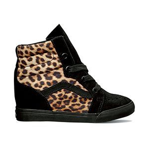 vans cuña leopardo